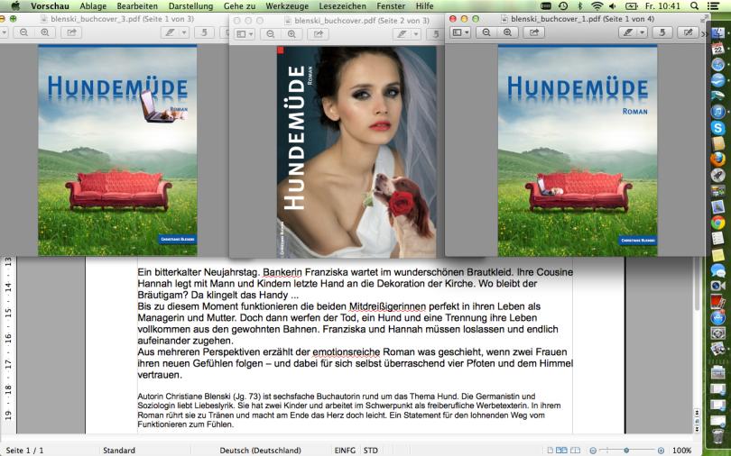 Roman fertig korrigiert - Cover-Varianten frisch aus der Grafik